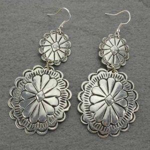 Handmade Textured Concho Earrings